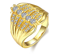 Top Quality AAA CZ Stone With Yellow Gold & Rose Gold Plated Women's Ring