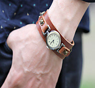 Punk Skull Bracelet Watch Vintage men watch leather Quartz watch Montre femme