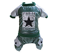 Dog Clothes/Jumpsuit Green Dog Clothes Winter / Spring/Fall Britsh Casual/Daily / Keep Warm