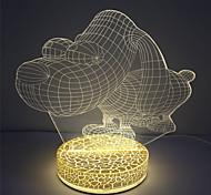 pour la décoration de chambre 5v avec lampe de table effet usb 3d conduit