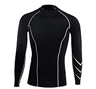Running T-shirt / Compression Clothing / Tops Men's Long Sleeve Breathable / Compression / Sweat-wicking LYCRA®Exercise & Fitness /