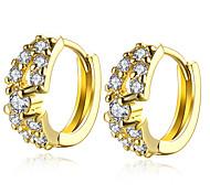 Trendy Full CZ Pretty Gold Ear Cuff Clip On Earrings For Women Trendy Clip Earring Girl Gift Fashion Jewelry E140