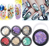 1pcs DIY Natural Dyed Shells Nail Art Decorations Accessories Design 3D Nail Jewelry