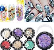 1pcs DIY Natural Dyed Shells Nail Art Decorations Accessories Design 3D Nail Jewelry