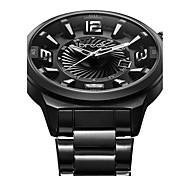 Hombre Reloj Deportivo / Reloj Militar / Reloj de Vestir / Reloj de Moda / Reloj de Pulsera Cuarzo Japonés Calendario Acero Inoxidable