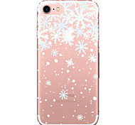 For Apple iPhone 7  6S Case Cover Christmas Pattern Painted TPU Acrylic Material Soft Package Phone Case