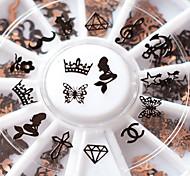 1pcs Nail Art Pearl Rhinestones 5mm Nail Stylish Metal Studs Gems