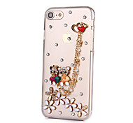 For iPhone 7 Case iPhone 6 Case iPhone 5 Case Case Cover Rhinestone Back Cover Case Cartoon Hard PC for AppleiPhone 7 Plus iPhone 7