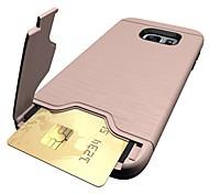 Для Бумажник для карт со стендом Кейс для Задняя крышка Кейс для Один цвет Твердый PC для Samsung S8 S8 Plus S7 edge S7