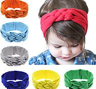 12 colori / turbanti headwraps set fascinator bambino nodo fascia neonata di hairband cotone annodato fascia