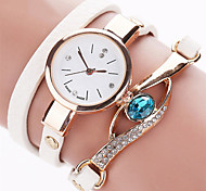 Eye Gemstone Luxury Watches Women Gold Bracelet Watch Dress Female PU Leather Electronic Quartz Wristwatches