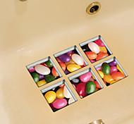 Продукты питания Наклейки Простые наклейки Наклейки для туалета,Винил материал Съемная Украшение дома Наклейка на стену