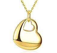 Women's Pendant Necklaces Jewelry Gold Plated Adorable Fashion Gold Jewelry Daily Valentine 1pc