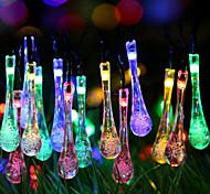 gotículas de Natal super tamanho de galáxias corda leve de luzes coloridas 2 metros caixa de bateria 20 cabeças de lâmpadas de 2,3 metros