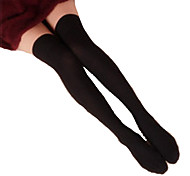 Socks/Stockings Classic/Traditional Lolita Lolita Black Lolita Accessories Stockings Solid For Women Cotton