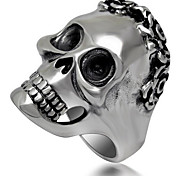 Ring Jewelry Titanium Steel Skull / Skeleton Punk Silver Jewelry Halloween 1pc