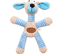 Dog Pet Toys Squeaking Toy Squeak / Squeaking Blue / Pink Textile
