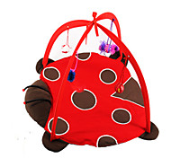 Cat Toy Pet Toys Plush Toy Foldable / Insect Red Textile