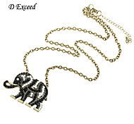 New Arrival Women Elephant Pendant With Acrylic Stone Long Chain Necklace For Gift NL140323