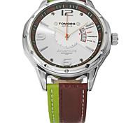 TOMORO Brand Fashion Men's Sports watches Men Quartz Genuine Leather Strap Military Army Waterproof Wristwatch Relogio Masculino