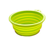Dog Feeders Pet Bowls & Feeding Foldable Random Color Plastic