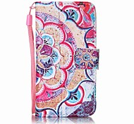 Half Flower Painting PU Phone Case for apple iTouch 5 6