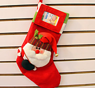 2PCS Stereo Santa Claus Socks Christmas Gift Bag Top Grade Stereo Christmas Socks Can Put Photos