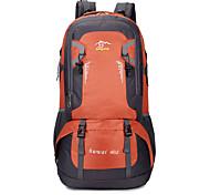 40 L Hiking & Backpacking Pack Waterproof / Wearable / Breathable Green / Black / Blue / Orange Nylon