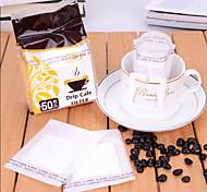 портативный капельного кофе кофе фильтр бумажный фильтр рукавный фильтр вспенивания, набор 50