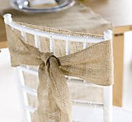 Wedding Décor 10 Meter Burlap Wrap Jute Cloth for  Decoration Chair Sash (10cm Width*10 Meter)