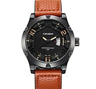 Women's Fashion  Leather Casual Quartz Watch with Calendar