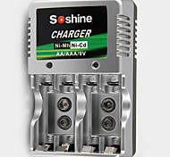 SoShine AA/AAA/9V Ni-MH/Ni-Cd Battery Smart Super Rapid Charger