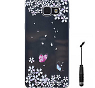 For Samsung Galaxy A5 A3 (2016) Case Cover Butterfly Pattern Super Soft Painting High Permeability TPU Material Phone Case  Touch Screen Pen
