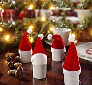 1 pcs décorations de noël couteau casquette de drap casquette christmas flanelle de chapeau de Noël et une fourchette