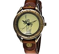 Vintage Cow Leather Bracelet The Statue Of Liberty Watch Casual Women WristWatch Luxury Quartz Watch Relogio Feminino