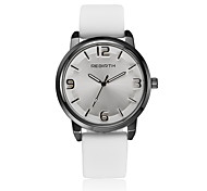 Unisex Fashion Watch / Wrist watch Quartz / Leather Band Casual Black / White Brand