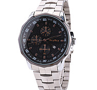 Men's Wrist watch / Quartz Stainless Steel Band Cool Casual White