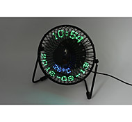 Novedad 3-in-1 Desktop calendar,clock&temperature fan 130cm 145*168*115 Negro