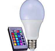 10W B22 / E26/E27 Slimme LED-lampen A80 9 SMD 3014 1100 lm RGB Dimbaar / Op afstand bedienbaar / Decoratief V 1 stuks