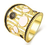 High Quality 18K Gold Plated Ring for Women Fashion Jewelry Party Wedding Gift with AAA Colorful Cubic Zircon