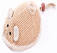 Cat Pet Toys Interactive Durable Beige Textile
