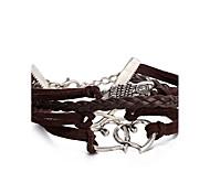 Women's Wrap Bracelet Leather Bracelet Bracelet Loom Bracelet Leather Alloy Punk Brown Jewelry 1pc