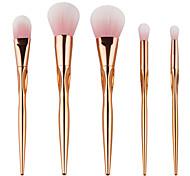 High Quality 5pcs Gold Face makeup Brush Set Powder Blush Contour Foundation Brush For Face Color Cosmetics