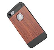 Für Stoßresistent Hülle Rückseitenabdeckung Hülle Holzmaserung Hart Bambus für Apple iPhone 7
