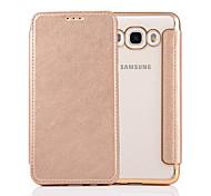 For Samsung  Galaxy J3 J5 J7 J5(2016) J7(2016) Case Cover  Pure Color Elegant Elegant Electroplating TPU Shell After Striae Cell Phone Sets
