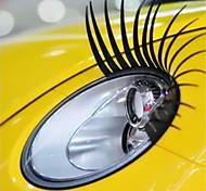 Eyelash Car Decorative Vehicle Headlight Sticker (Pair)
