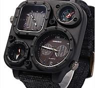 Masculino Relógio Esportivo / Relógio Militar / Relógio Elegante / Relógio de Moda / Relógio de Pulso Quartz Dois Fusos Horários / Punk