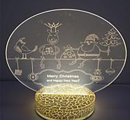 New Design 2W Holiday Gift 3D Illusion Acrylic Night Light