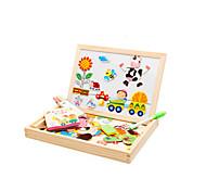 Jigsaw Puzzles Magnet Toys / Educational Toy / Jigsaw Puzzle Building Blocks DIY Toys Bird / Pig / Roses / Sun / Bus Wood RainbowLeisure