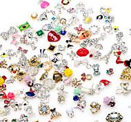 30pcs 3D Alloy Nail Sticker Decorations DIY Charm Nail Jewelry Accessories Random Color